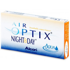 Air Optix Night and Day Aqua ΜΗΝΙΑΙΟΙ  ΦΑΚΟΙ ΕΠΑΦΗΣ ΜΥΩΠΙΑΣ - ΥΠΕΡΜΕΤΡΩΠΙΑΣ 3 ΤΕΜΑΧΙΩΝ
