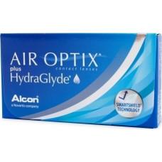 Air Optix plus hydraglyde  ΜΗΝΙΑΙΟΙ  ΦΑΚΟΙ ΕΠΑΦΗΣ ΜΥΩΠΙΑΣ - ΥΠΕΡΜΕΤΡΩΠΙΑΣ 6 ΤΕΜΑΧΙΩΝ